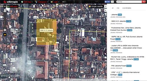 wikimapia smkn 31 jakarta