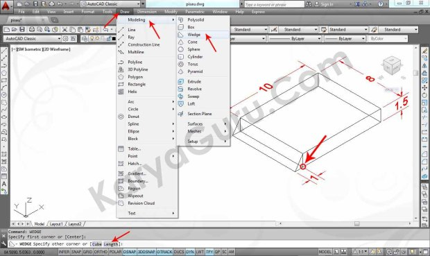 02 Tutorial AutoCAD Pisau Crusher - Wedge