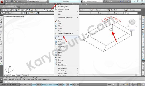 05 Tutorial AutoCAD Pisau Crusher - Move