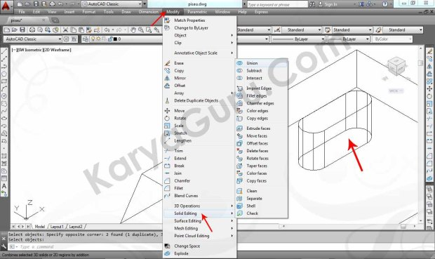 08 Tutorial AutoCAD Pisau Crusher - Union