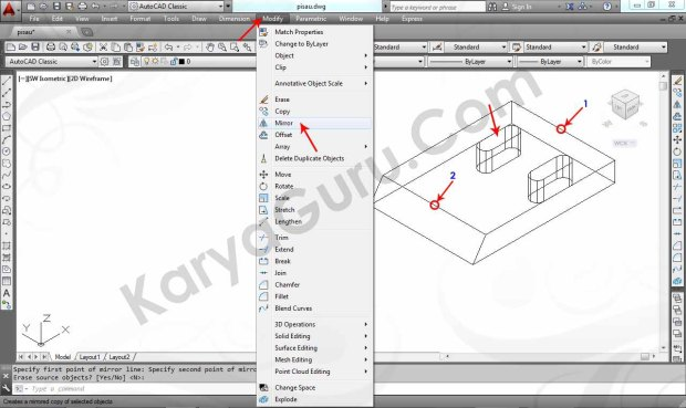 09 Tutorial AutoCAD Pisau Crusher - Mirror