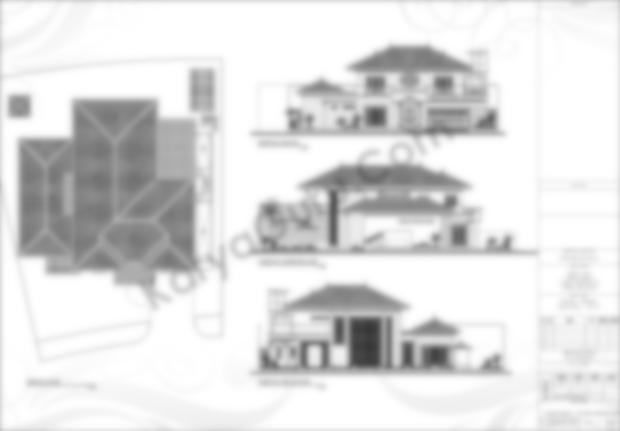 Gambar Kerja AutoCAD Tampak 2 Lantai