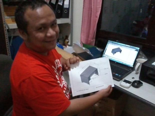 Hasil Plotting Meja Maintenance Kursus AutoCAD 3D Mechanical