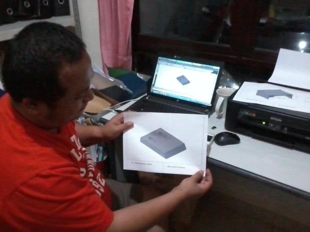 Hasil Plotting Pisau Crusher Kursus AutoCAD 3D Mechanical