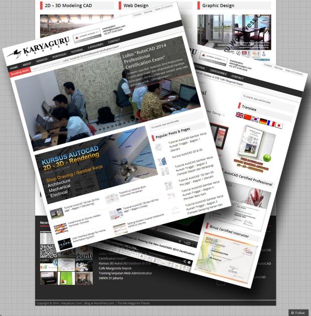 Theme WordPress Web KaryaGuruCenter Baru