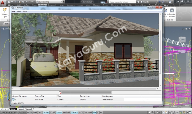 Camera1 AutoCAD 2014 Rendering Free RPC