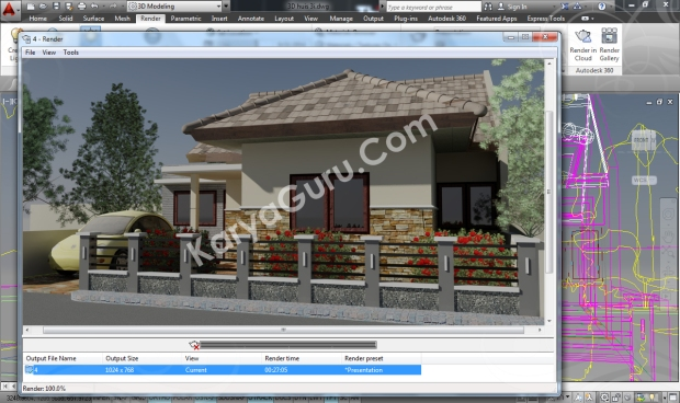 Camera2 AutoCAD 2014 Rendering Free RPC