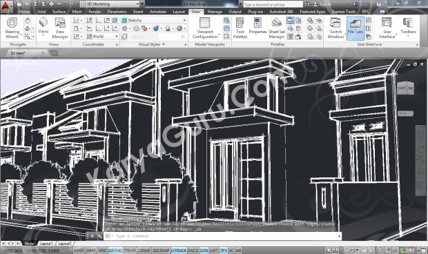 Kursus AutoCAD 3D Sketchy Camera 3
