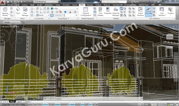 Kursus AutoCAD 3D X-Ray Camera 2
