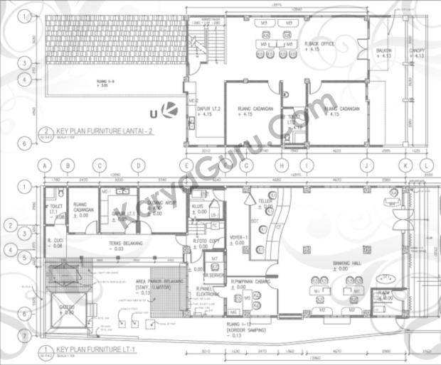 Kursus AutoCAD Interior Design - Denah Furnitur
