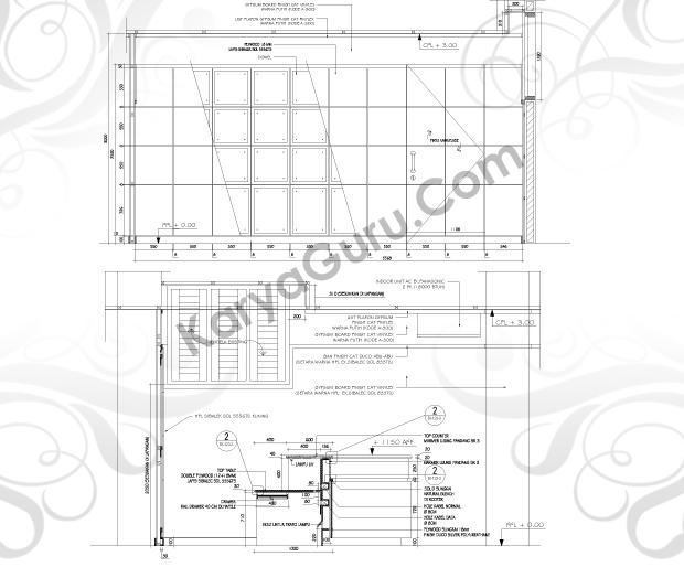 Kursus AutoCAD Interior Design - Tampak Potongan