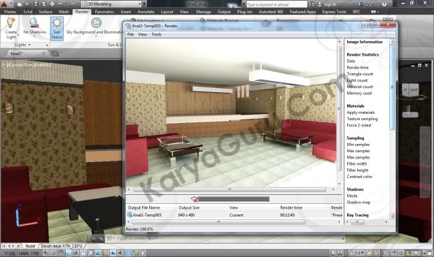 Kursus AutoCAD Rendering Interior Design