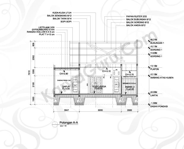 Kursus Potongan AutoCAD 2D Arsitektur Hotel Ibis Tamarin