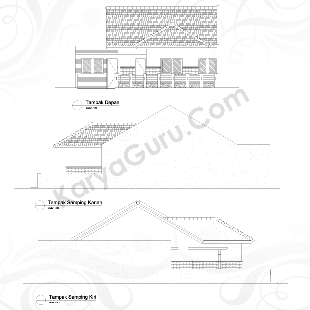 Kursus Tampak AutoCAD 2D Arsitektur Hotel Ibis Tamarin