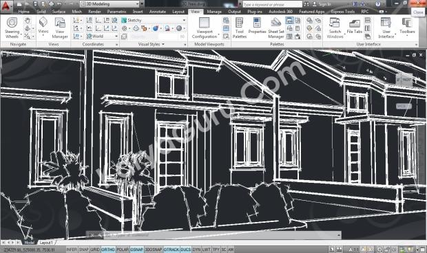 Rumah Minimalis AutoCAD Sketchy Camera 2