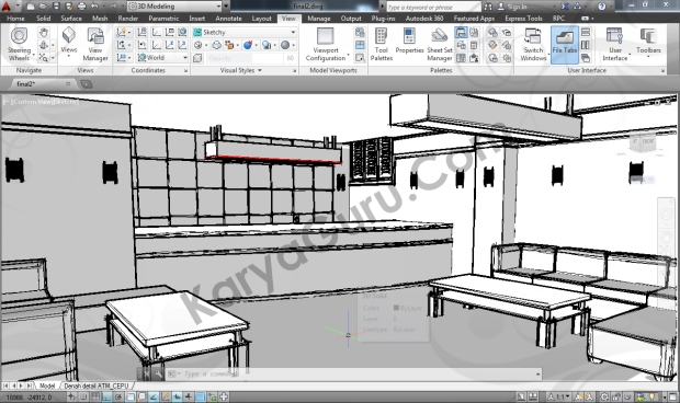 visual style sketchy autocad interior design