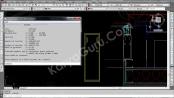 Data Titik Berat Momen Inersia Profile Aluminium di autocad