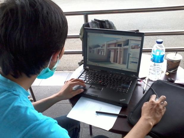 Kursus AutoCAD 3D Rendering Photoshop Giant Tole Iskandar