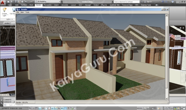 screenshot rendering autocad