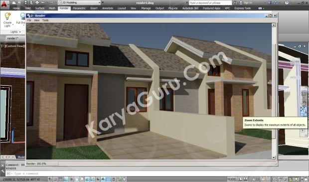 screnshoot 3d autocad rendering