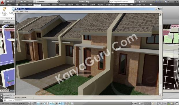 screnshoot 3d rendering autocad