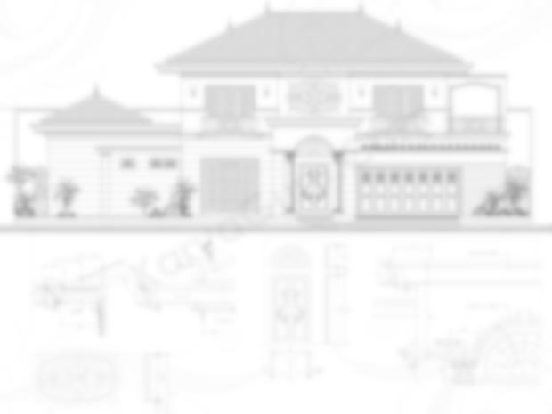 Gambar Tampak dan Detail Rumah Klasik Mediterania