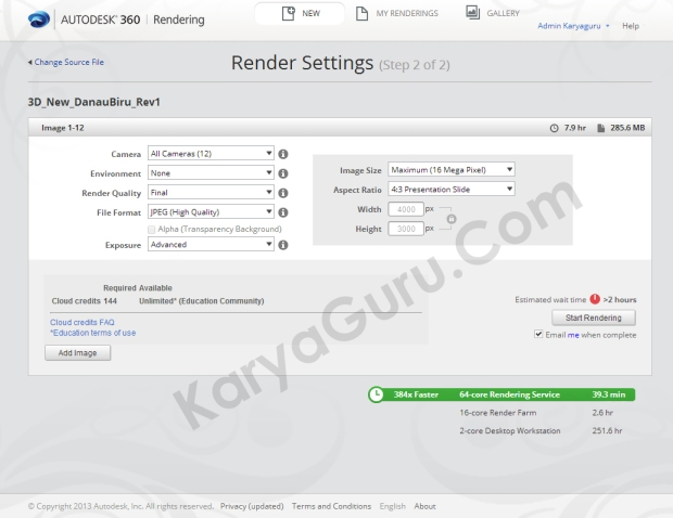 tutorial 4 rendering in autodesk 360