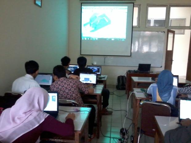 Training Mahasiswa AutoCAD 2D 3D Rendering di Politeknik Negeri Jakarta