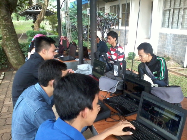 Training outdoor AutoCAD 2D 3D Rendering di Politeknik Negeri Jakarta