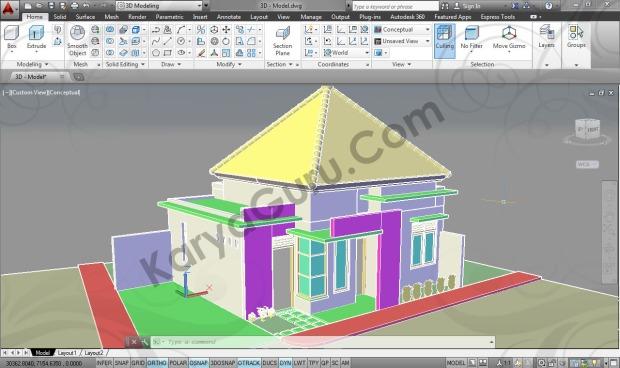 3D Modeling Conceptual Kursus AutoCAD