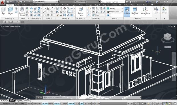 3D Modeling Skecthy Kursus AutoCAD