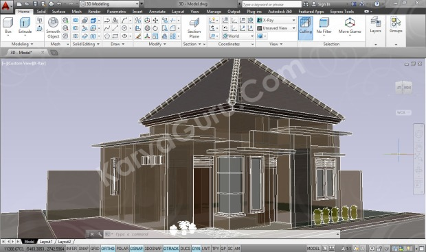 3D Modeling X-ray Kursus AutoCAD