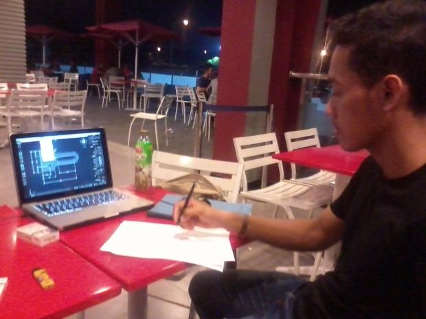 Kursus Outdoor AutoCAD di KFC Lenteng Agung Laterace