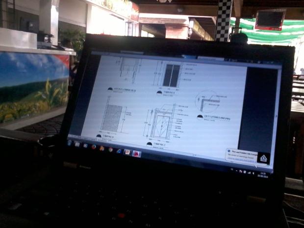 Kursus 2D AutoCAD Outdoor di Papirus Tanjung Barat