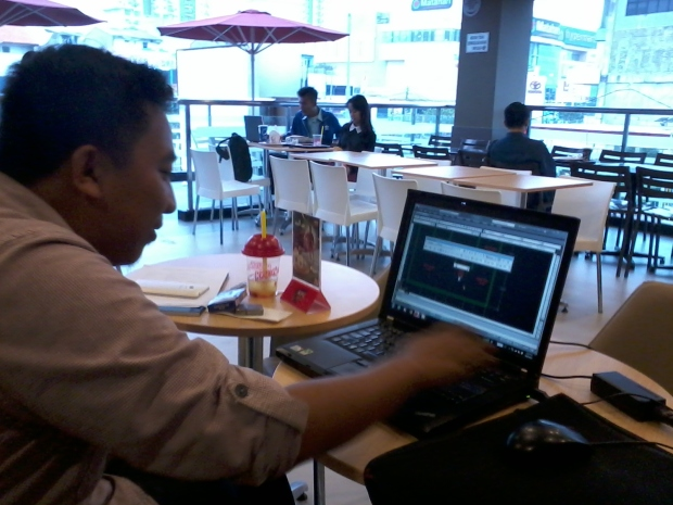 Kursus 2D AutoCAD Outdoor di KFC Margonda Depok