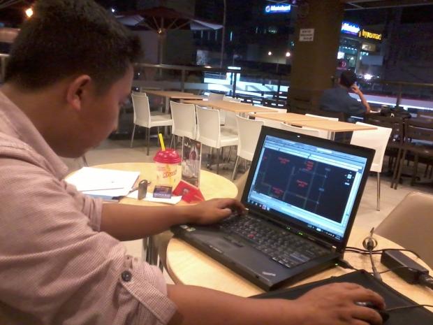 Kursus Arsitektur AutoCAD Outdoor di KFC Margonda Depok