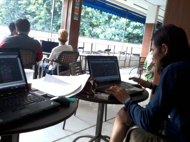 Kursus AutoCAD Outdoor di IndomaretPoint Tebet Jakarta Selatan