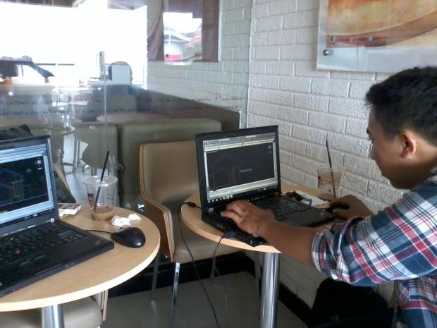 Kursus AutoCAD Outdoor di KFC Margonda Depok