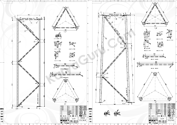 Kursus AutoCAD Tower-42m-SECTION-001-002
