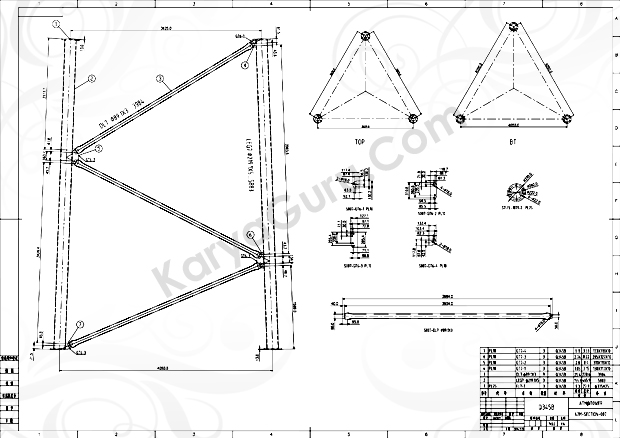 Kursus AutoCAD Tower-42m-SECTION-Base