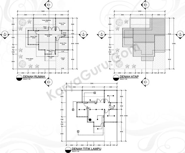 Materi Kursus Denah Atap Titik Lampu Karyaguru Center
