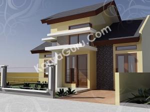 kursus autocad 3d rendering rumah minimalis camera 1
