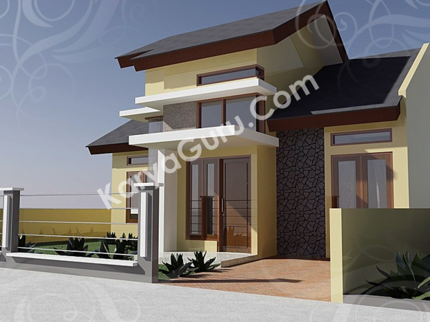 AutoCAD Rendering Rumah Minimalis