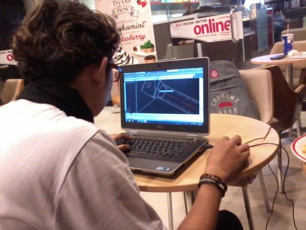 Kursus AutoCAD 3D Tower di KFC Margonda Depok JawaBarat