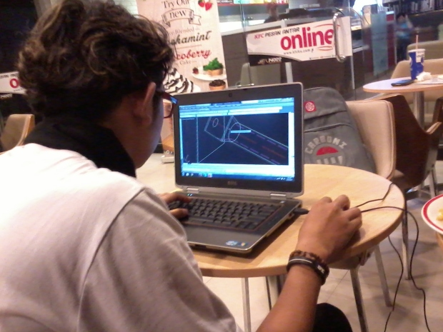 Kursus AutoCAD 3D Tower di KFC Margonda Depok Jawa Barat