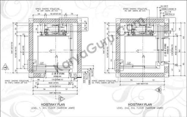 KURSUS-AUTOCAD-HOISTWAY-ELEVATOR
