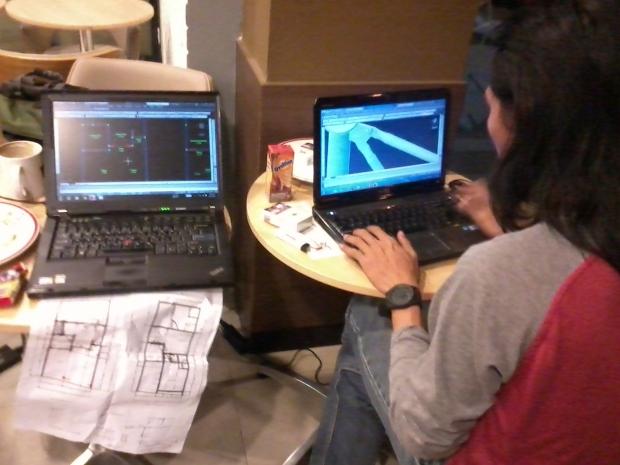 Kursus AutoCAD outdoor 3D Tower di KFC Margonda Depok Jawa Barat