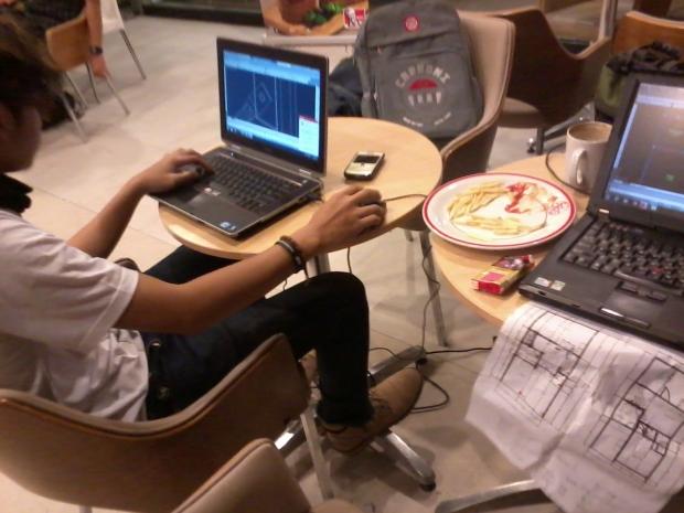 Kursus AutoCAD outdoor 3D Tower di KFC MargondaDepok JawaBarat