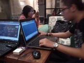 Kursus AutoCAD outdoor 3D Tower di Ngopi Doeloe Cafe Bandung Jawa Barat