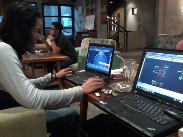 Kursus AutoCAD outdoor 3D Tower di Ngopi Doeloe Cafe Bandung JawaBarat